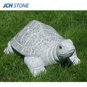 Grey granite hand carved turtle statue stone animal carvings for garden decoration tortoise sculptures