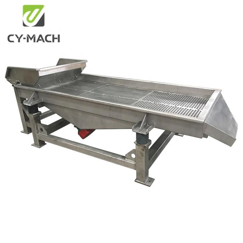 High output horizontal wheat seed sieve shaker machine linear vibrating screen
