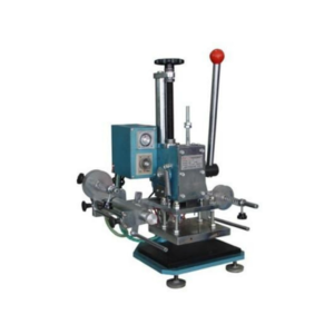 Hot foil stamping machine for leather and wood products