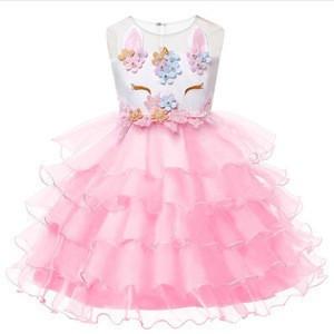 Hot Selling Baby Girls Part Unicorn Skirts Sleeveless Baby Dresses