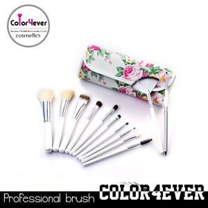 Makeup brushes professional 12pcs Rose case makeup brush sets OEM eye shadow applicator