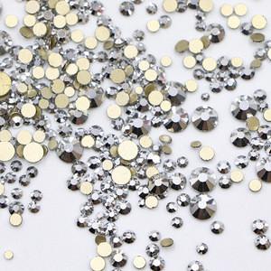 Mixed Sizes Flatback Rhinestone in Bulk Non Hotfix Fancy Nails Stones Rhinestones Crystals for Nail Clothes Decoration