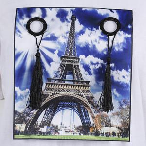 New style Eiffel Tower applique machine made digital printing transfer