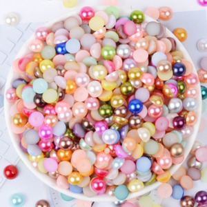 Newest Arrival Fashion Loose White Artificial ABS Pearl Half Round  Pearl for nail and cell phone decoration