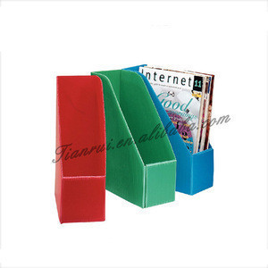 Office transparent/clear plastic magazine storage holder/rack for European market