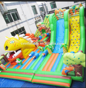Outside inflatable tiger channel playground