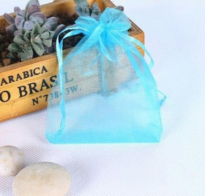 Plain transparent organza yarn gauze bag jewelry packaging net pearl yarn bag Drawstring bag