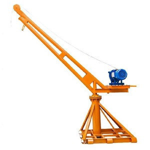 Small lift household multi-function bracket simple lifting goods on the sand construction motor electric crane