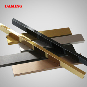 Stainless steel metal gold bedroom panel brass channel 1/2 inch stainless steel trims