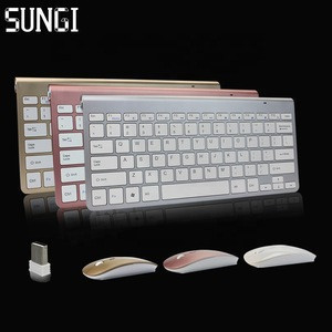 SUNGI Hot sale 2.4G Slim wireless keyboard and mouse Combo for Apple Pc Windows Tv Box
