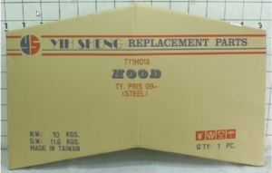 Taiwan made high quality car engine hood 53301-47060 for Toyota Prius 2010-2015