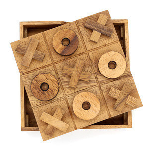 Tictactoe wood board games