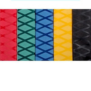 WF  Red, green, yellow, blue and black 25mm protective heat-shrinkable sleeve badminton racket