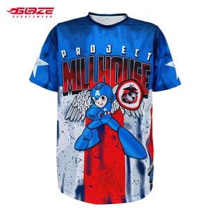 Wholesale short sleeve  sublimated printing custom softball jersey