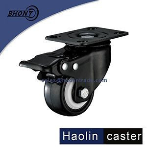 Noiseless Heavy Duty Wheel Caster with Polyurethane Rubber Coating