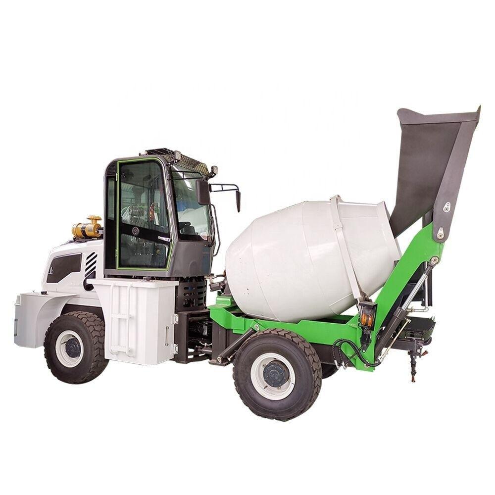 Self loader mini mobile concrete truck mixer small type truck mixer concrete