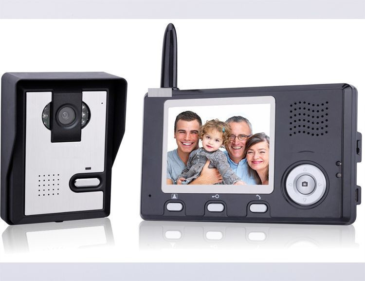 Wireless WiFi Smart Video Door Phone IP P2P Home Security and Support Rain shield for the outdoor camera