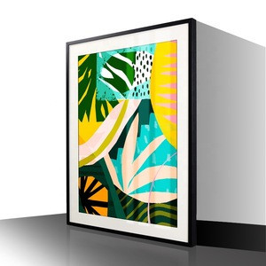 2019 High Quality Modern picture printed framed art with white mount under plexiglass for home