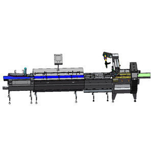 Semi-auto feeding system packing automatic line