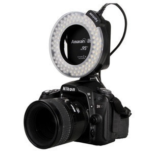 AHL-HN100 Macro photography LED Ring Flash Light with LCD Display Adapter Rings and Flash Diffusers for Nikon D7100 D5200 D800