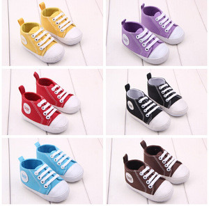 Baby Canvas Shoes / baby Infant toddler Moccasins / toddler baby shoes