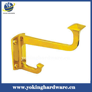Brass double coat hook/hat hook/garment hook YK-G011