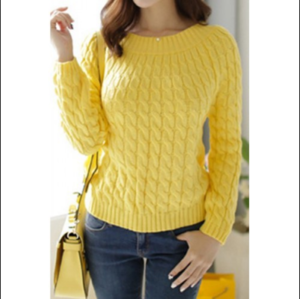BSCI Sedex Factory No Minimum Custom Black & White Color Knit Womens Sweaters for Women