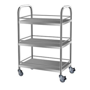 China Made Medical stainless steel trolley hospital food trolleys