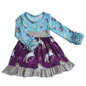 Christmas girls boutique clothing baby girls remake dress