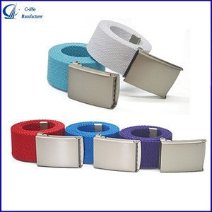 Cotton Canvas Fabric Metal Buckle Waist Fashion Belt