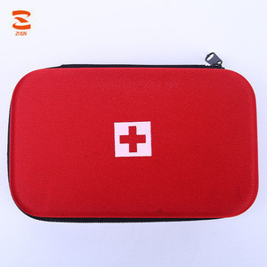 Customized Travel Good Quality Classic Red EVA Case Promotional First Aid Kits