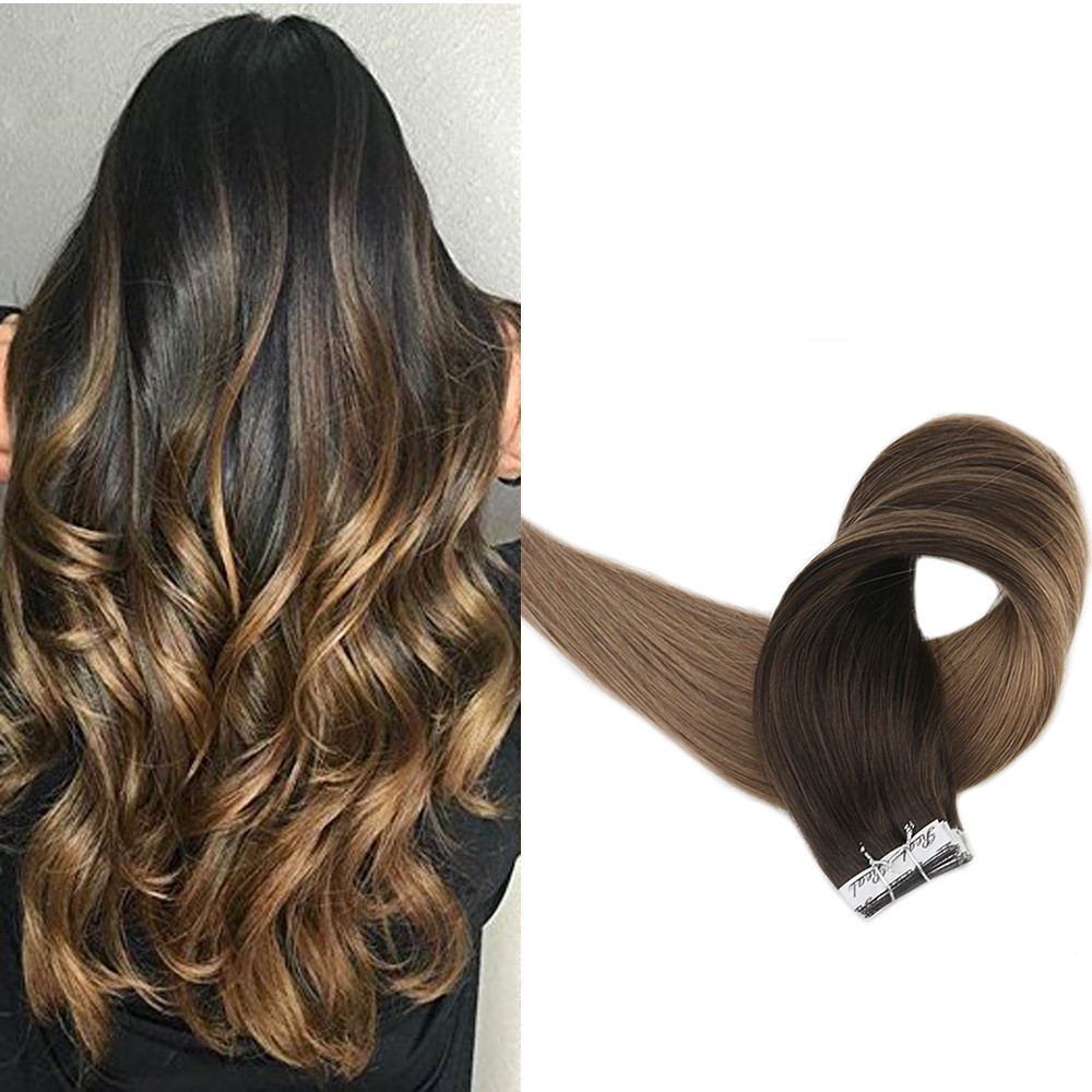 High quality factory price double welf tape hair extensions 100% human hair
