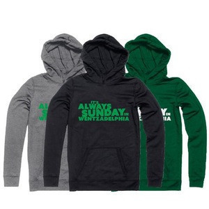 Hoodie with Heat transfer printing high quality custom made hoodie for men