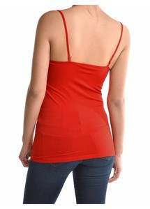 Ladies seamless purecolor camisole nylon spandex cami sexy women's underwear