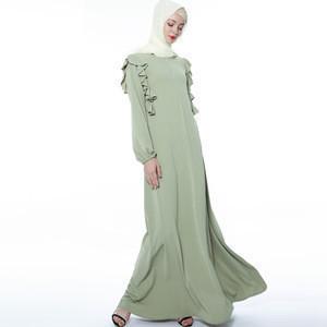LYX103NEW delicate hijab dress stringy selvedge Islamic Clothing Fashion  Kimono Arabic Style Dubai Muslim Abaya