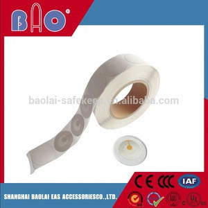 Magnetic cable labels tags in eas security system