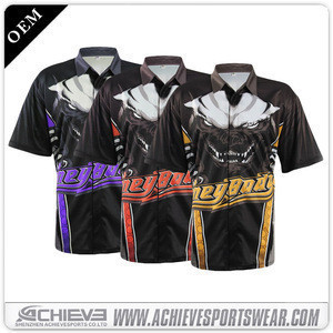 Manufacturers direct high - quality cool custom embroidery trademarkspolyester quick dry motorcycle auto racing wear