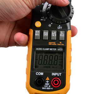 MS2108 AC/DC Mini Digital Clamp Meter with 6600 Counts