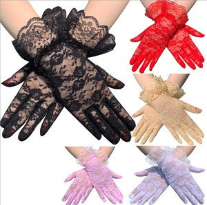 New design Women lace gloves Wedding Dress Gloves sexy  Finger Gloves