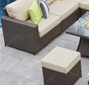 Outdoor Patio Wicker Furniture Multifunctional Garden Leisure Rattan Sofa  With Fire Pit Table