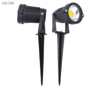 Outdoor waterproof IP65 led garden spot spike low voltage 24V 12V garden light
