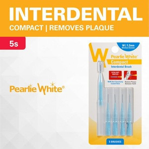 Pearlie White Compact Interdental Brushes Green Size L - Pack Of 5s