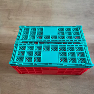 PP material stackable Foldable Mesh Style collapsible plastic crates