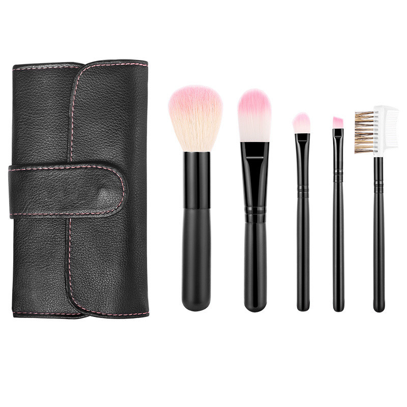 Private Label Makeup Brush Kit with Portable Bag.