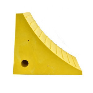 PU wheel chock road construction equipment tire stopper