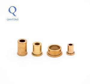 QIANTONG manufacturer OEM powder metallurgy bronze bushings and bearings/metal bushing bearing/copper bushing for fan motor