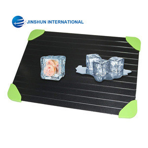 Quick Thawing Plate Defrosting Tray, Made of Premium HDF Aeronautical Aluminum Alloy, Quick Natural Safe Thawing Frozen Meat or