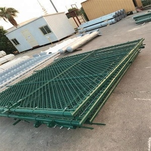 Saudi Aramco approved factory decorative 8 foot used chain link fence with gates