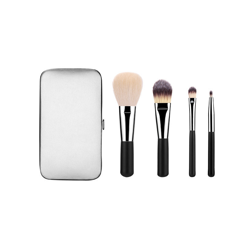 Travel Brush Set with Synthetic Hair Portable Bag.
