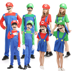 UFOGIFT New Year Super Mario Cosplay Costumes Children Family Funny Mario Bros Costume Fancy Dress Christmas Party